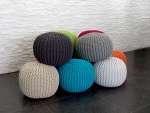 "Pouf - ""COOL"" - 43 x 40 cm - Obsession"